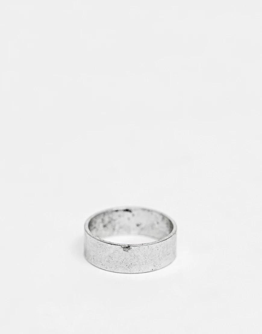 ASOS   Серебристое кольцо ASOS DЕSIGN-Серебряный   Clouty