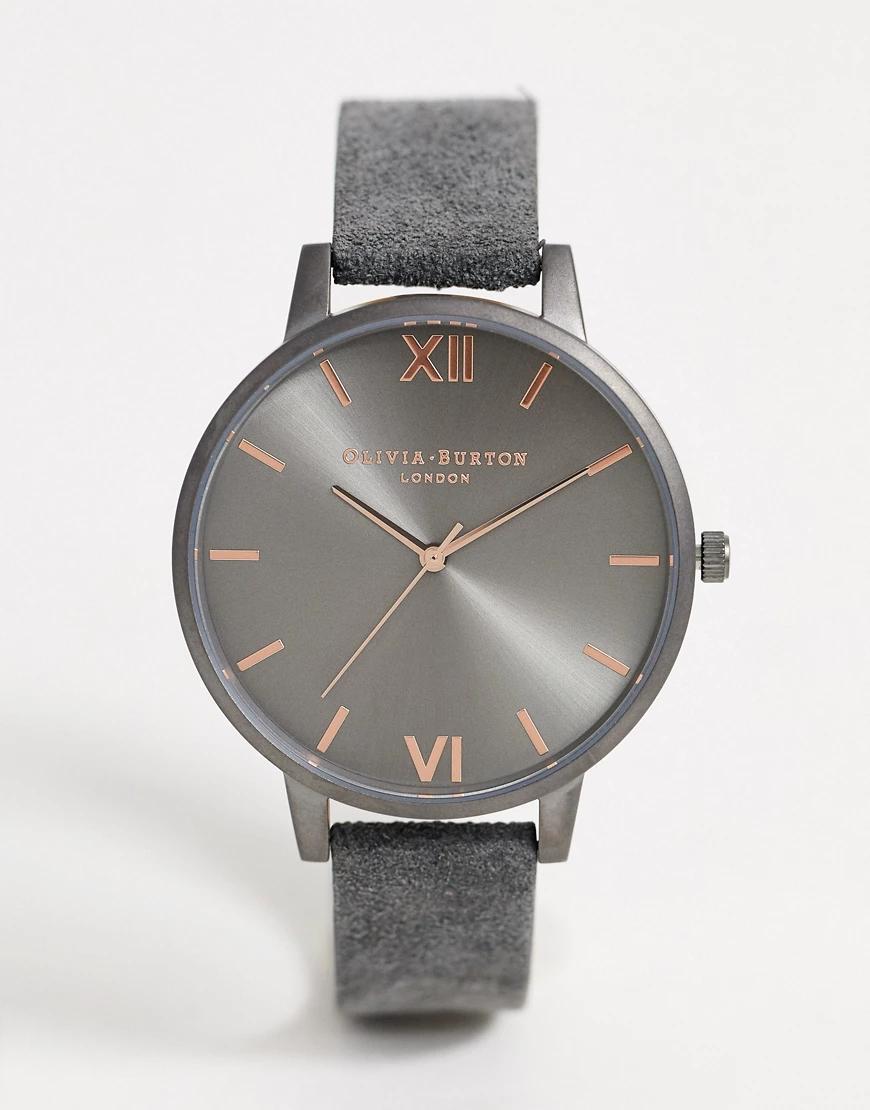 Olivia Burton | Серые часы с кожаным ремешком Olivia Burton Shoreditch-Cepый | Clouty