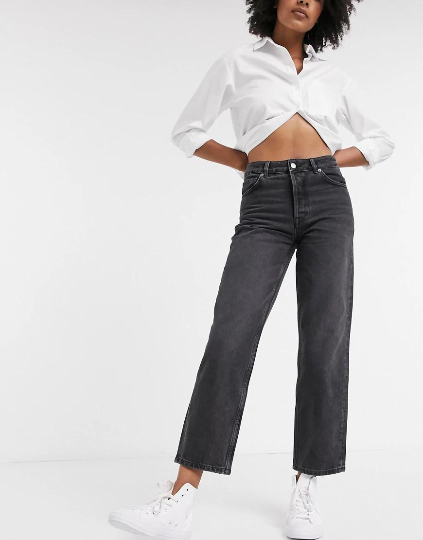 Selected | Серые прямые джинсы Selected Femme-Серый | Clouty