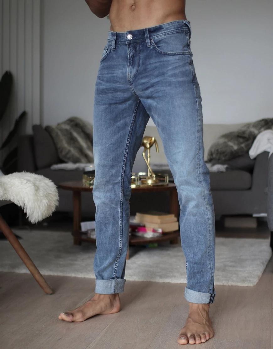 TOM TAILOR | Синие джинсы узкого кроя Tom Tailor-Cuнuй | Clouty