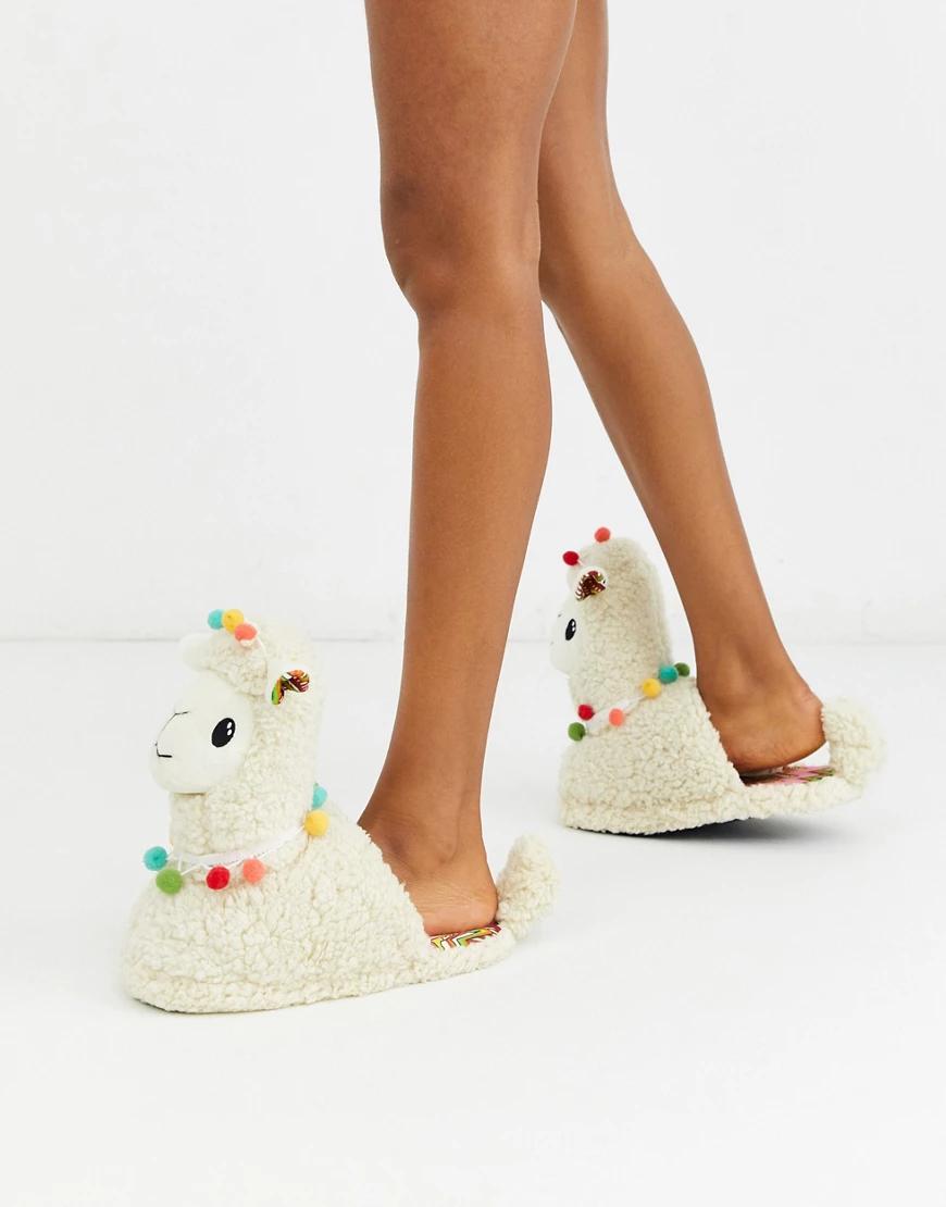 TOPSHOP | Слиперы кремового цвета в форме ламы Торshор-Кремовый | Clouty