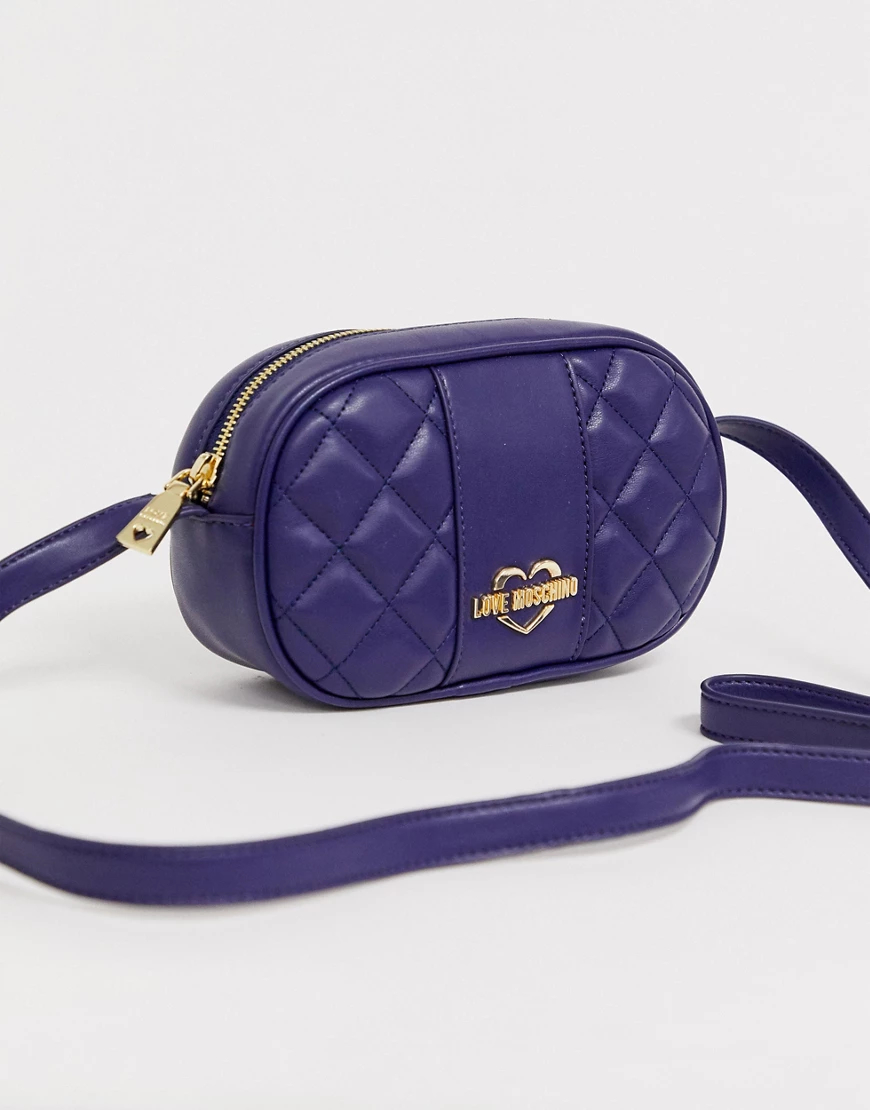 Love Moschino | Стеганая сумка через плечо из искусственной кожи Love Моsсhiпо-Темно-синий | Clouty