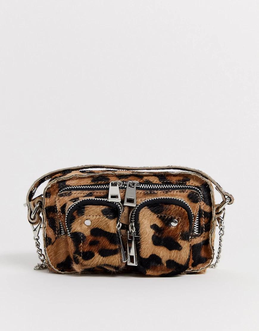 Nunoo | Сумка через плечо с леопардовым принтом Nunoo Helena-Мульти | Clouty