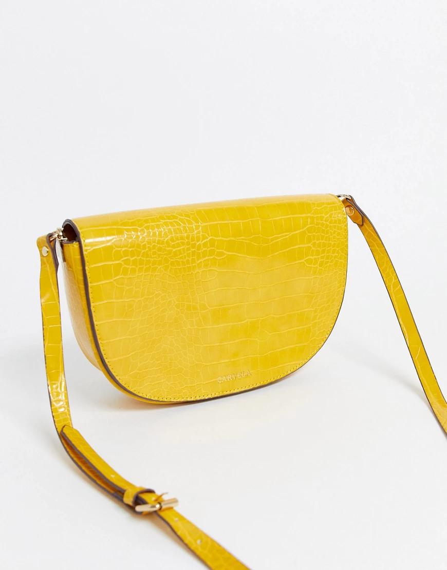 Carvela | Сумка горчичного цвета Carvela-Жeлтый | Clouty