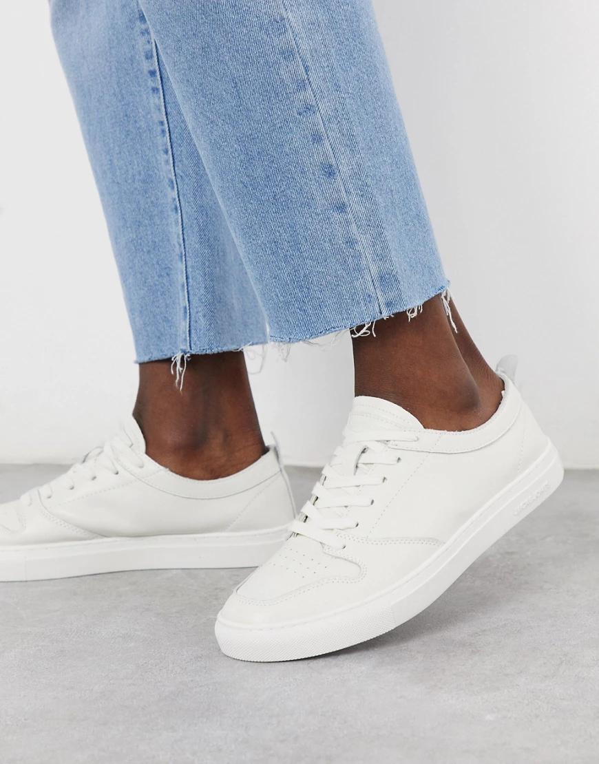 Jack & Jones   Светлые кожаные кроссовки без подкладки Jack & Jones-Белый   Clouty