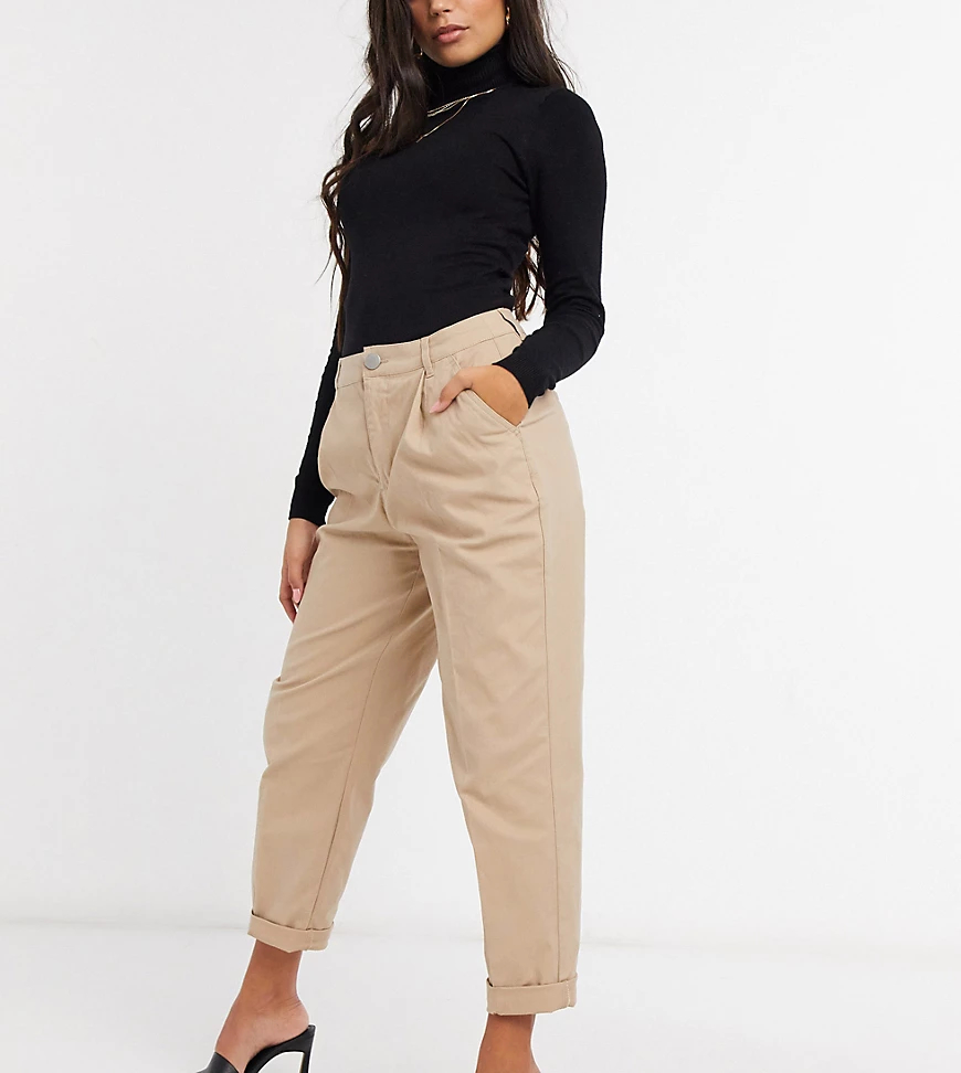 ASOS DESIGN | Светло-бежевые брюки-чиносы ASOS DESIGN Petite Ноиrglаss-Светло-бежевый | Clouty