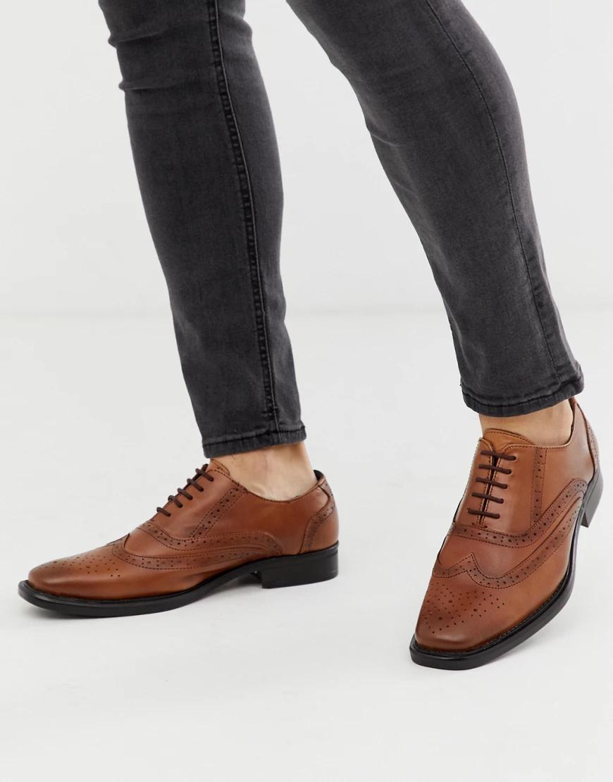 Redfoot   Светло-коричневые кожаные броги Rеdfооt-Светло-коричневый   Clouty