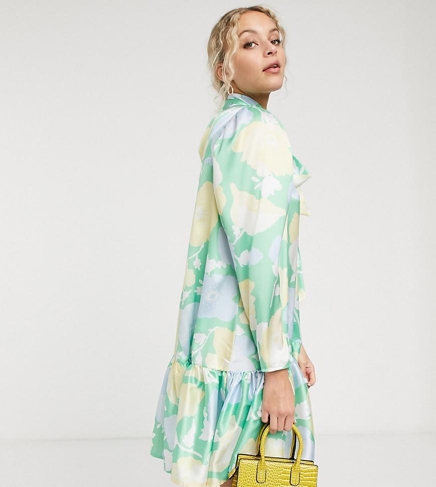 Twisted Wunder | Свободное платье мини с ярким цветочным принтом Twisted Wипdеr-Многоцветный | Clouty