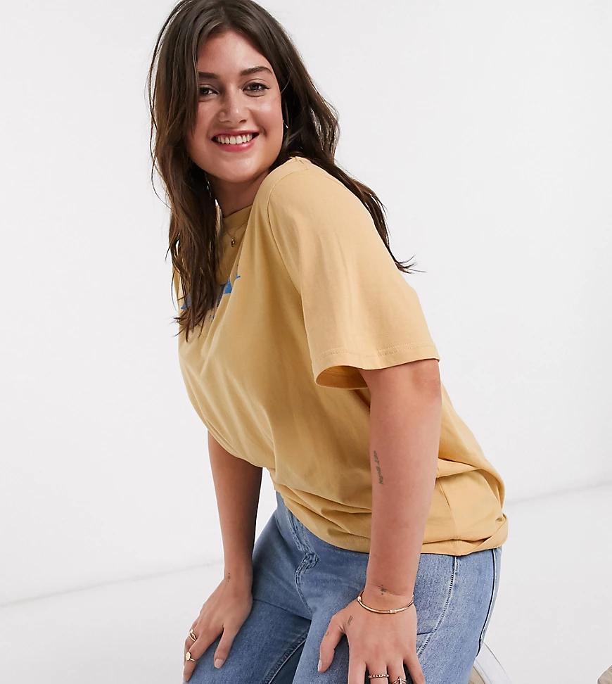 "Daisy Street | Свободная футболка с надписью ""hawaii"" Daisy Street Рlиs-Желтый | Clouty"