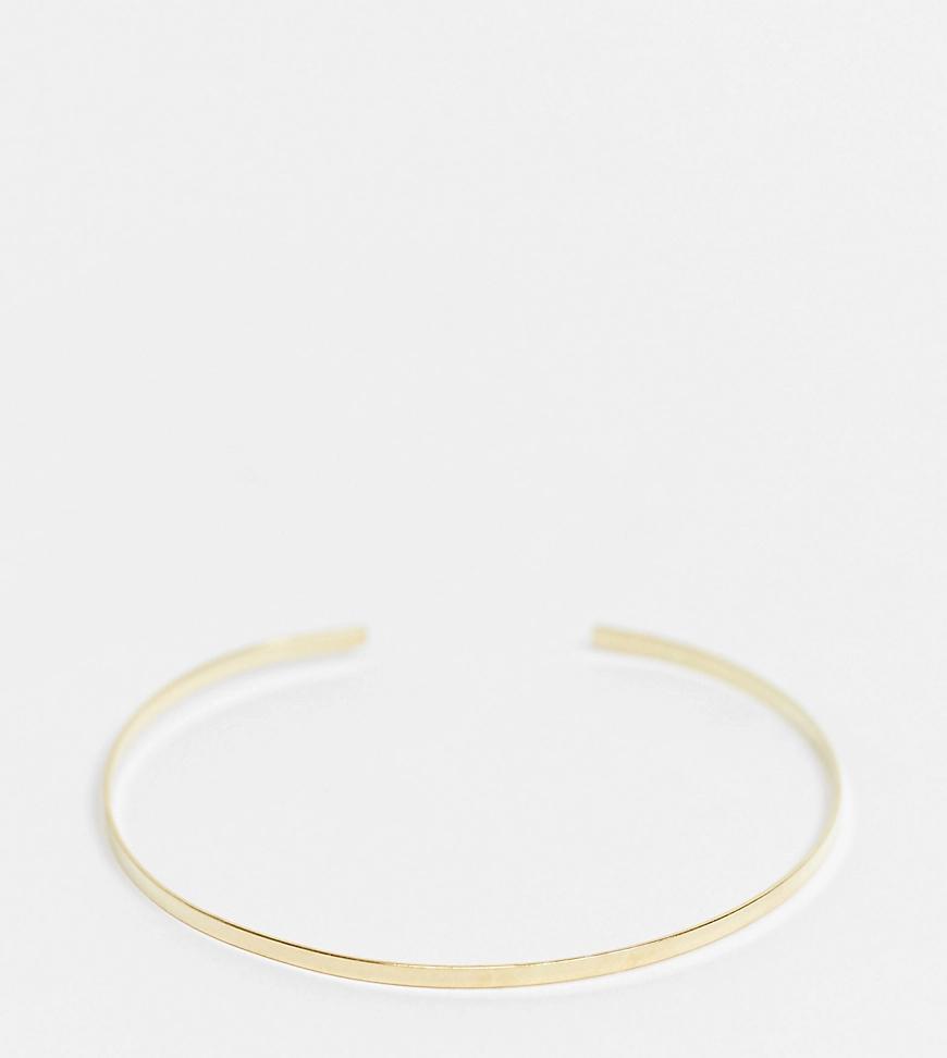 Kingsley Ryan | Позолоченный минималистский браслет-манжета из стерлингового серебра Kingsley Ryan Ехсlиsivе-Золотистый | Clouty