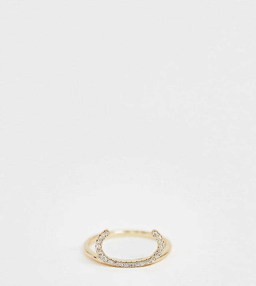 Galleria Amadoro | Позолоченное кольцо с отделкой паве Galleria Armadoro-Зoлoтoй | Clouty