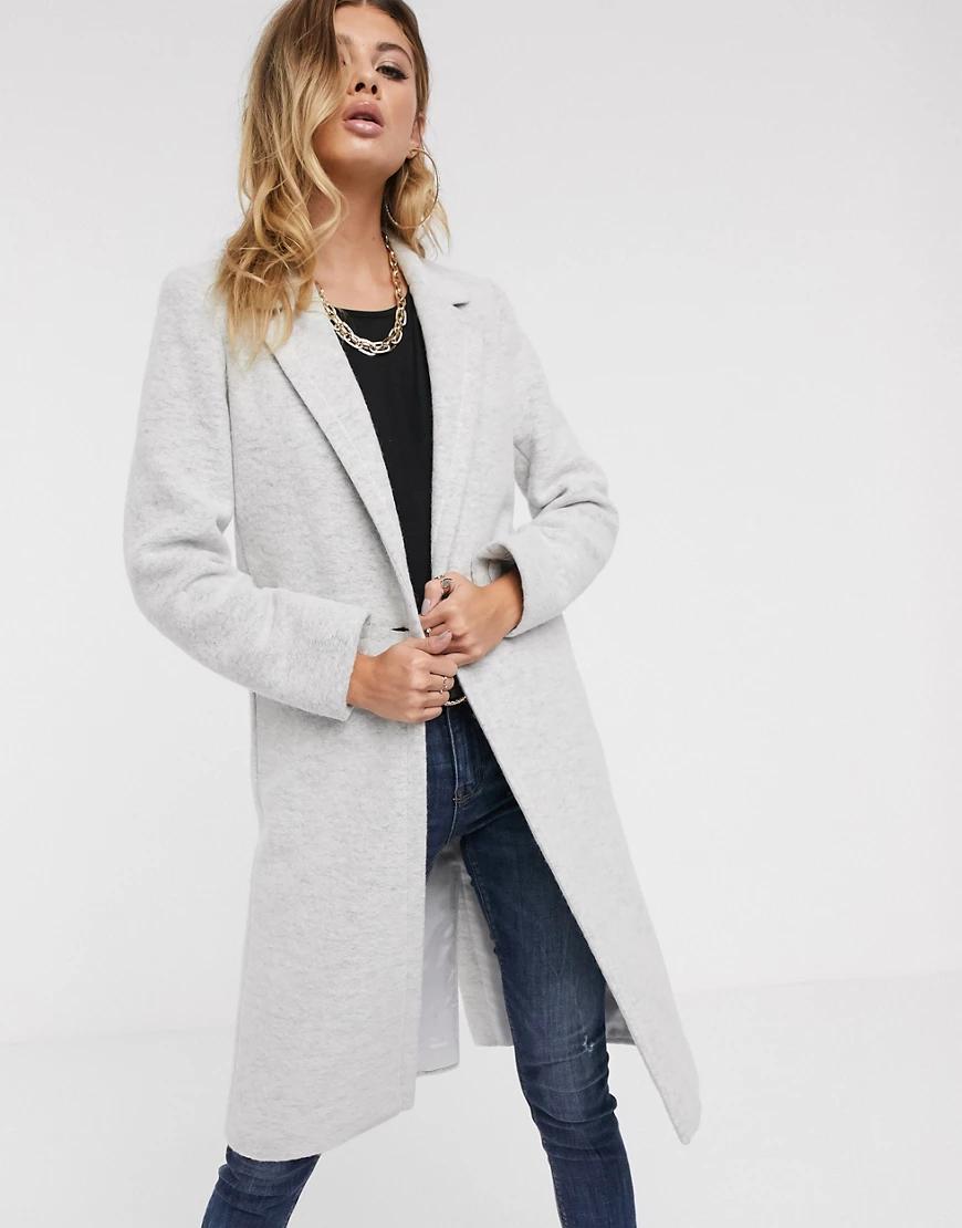 Helene Berman  London | Пальто из ткани с добавлением шерсти с застежкой на одну пуговицу Helene Berman-Cepый | Clouty