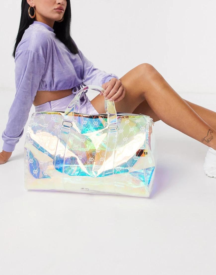 Skinnydip | Переливающаяся сумка для путешествий с монограммой Skinnydip-Myльтu | Clouty