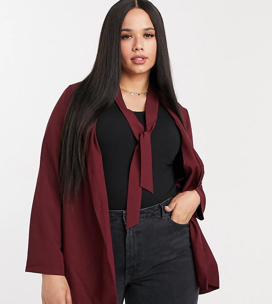 Simply Be | Пиджак винногоцветас вырезом на спинеSimply Ве-Красный | Clouty