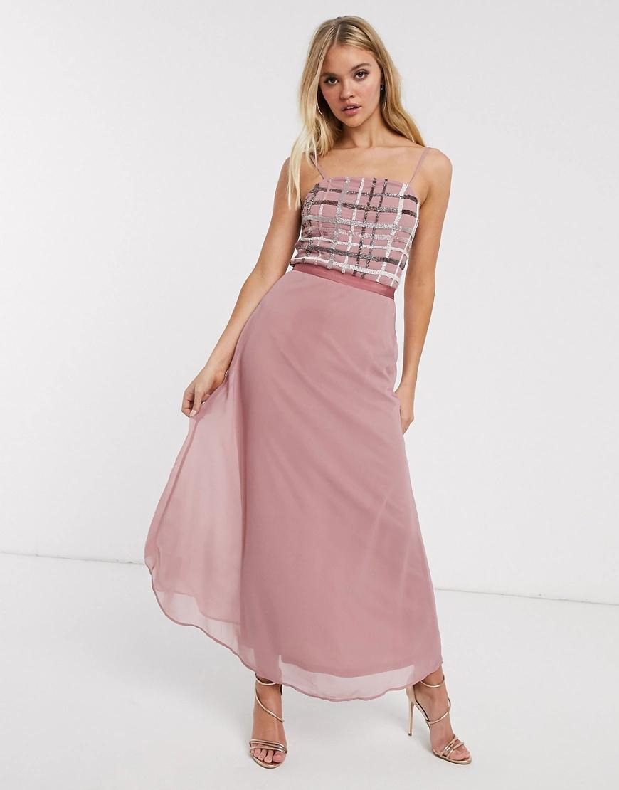 Frock And Frill | Платье-комбинация миди Frock & Frill-Розовый цвет | Clouty