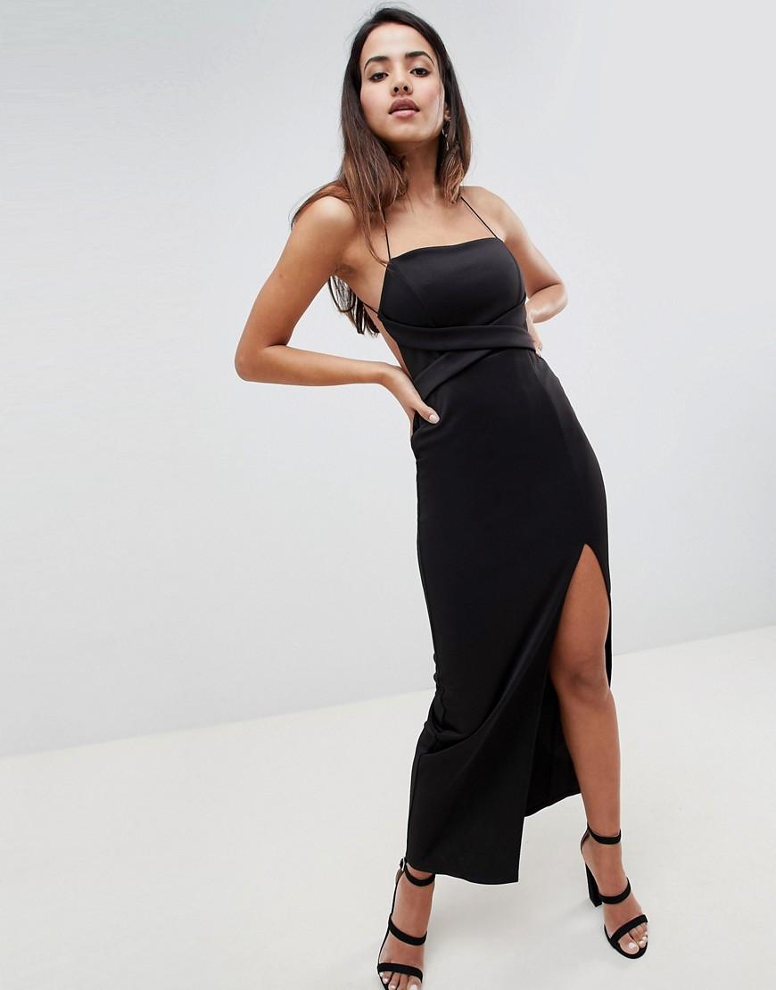 ASOS | Платье макси ASOS DESIGN-Черный | Clouty