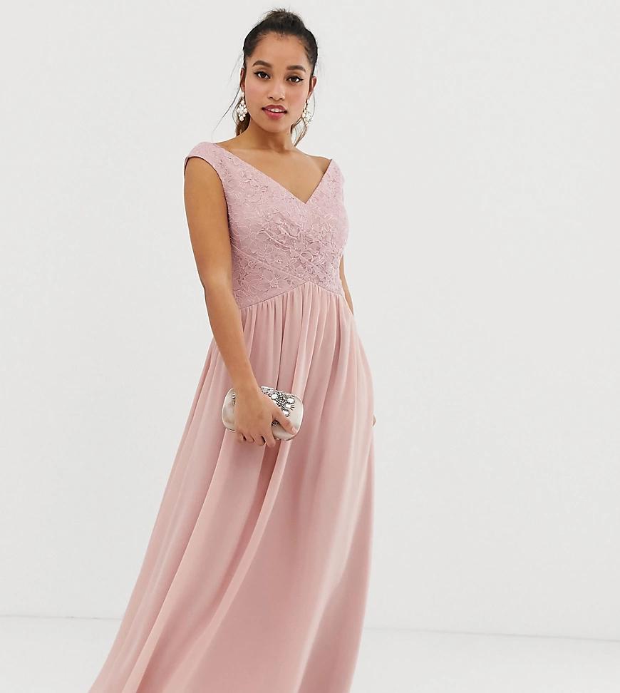 Little Mistress | Платье макси с запахом Little Mistress Реtitе-Розовый | Clouty