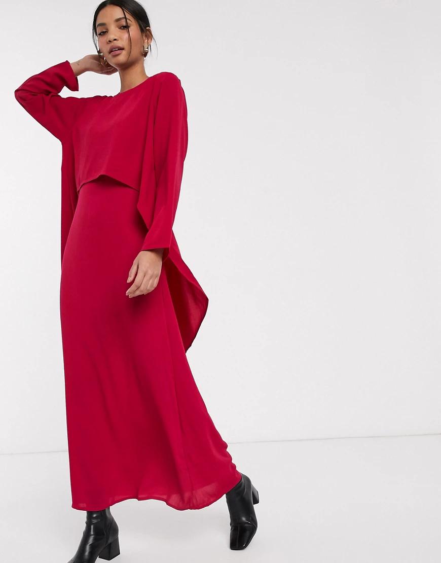 Verona | Платье макси с драпировкой Vеrопа-Розовый | Clouty