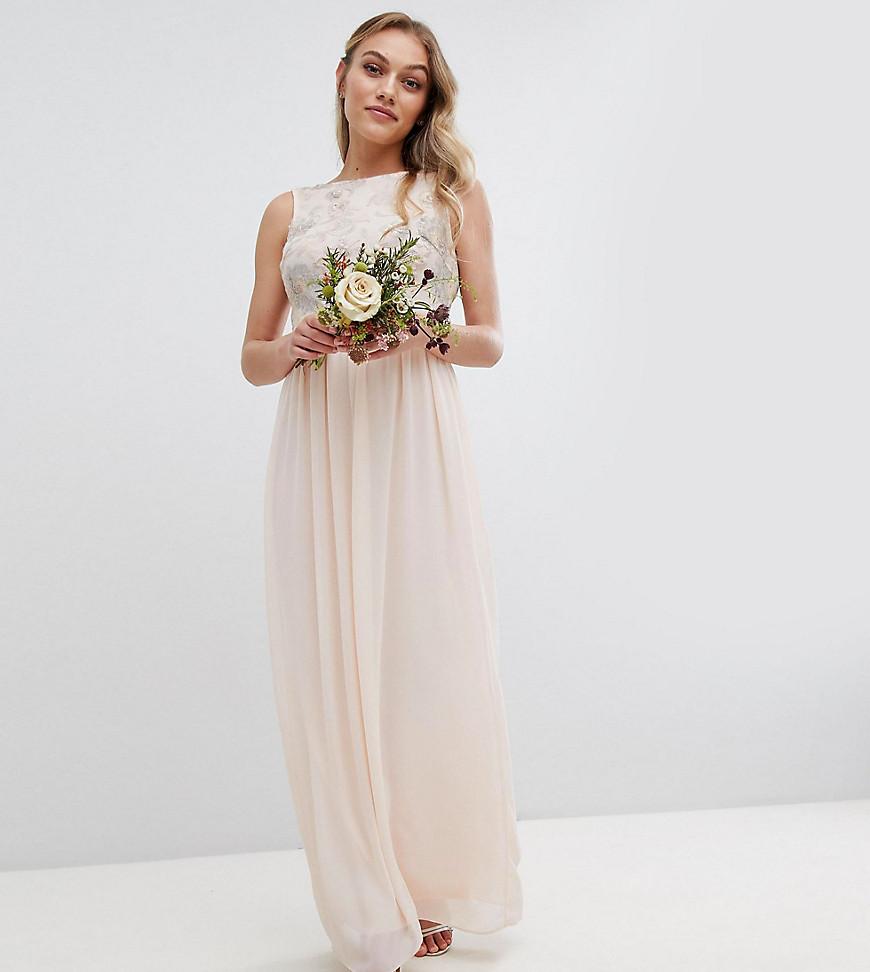TFNC London | Платье макси с пайетками TFNC Реtitе-Розовый | Clouty
