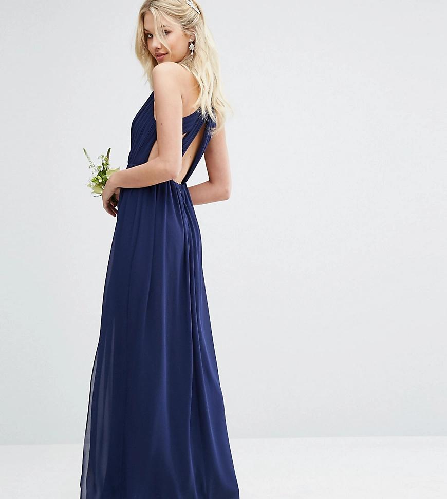 TFNC London | Платье макси с плиссировкой ТFNС-Темно-синий | Clouty