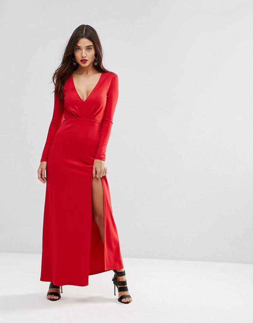 Ivyrevel | Платье макси с разрезом Ivyrevel-Kpacный | Clouty