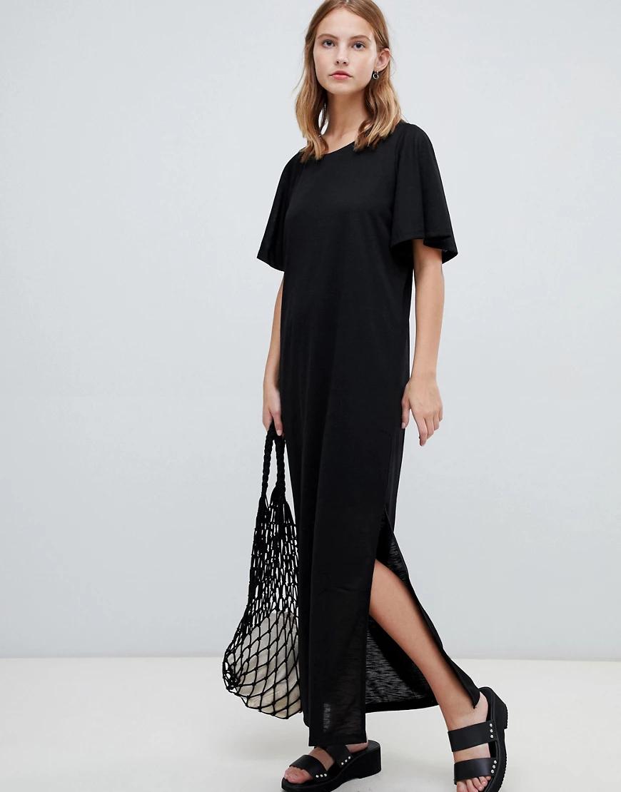 Ichi | Платье макси с рукавами клеш Iсhi-Черный | Clouty