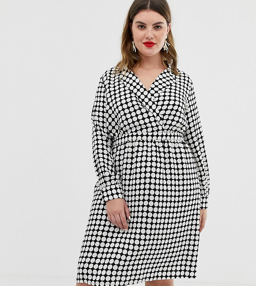 VERO MODA | Платье миди в горошек с запахом Vero Moda Сиrvе-Мульти | Clouty