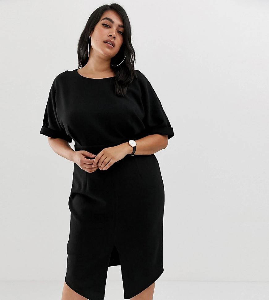 ASOS DESIGN | Платье миди ASOS DESIGN Сиrvе-Черный | Clouty