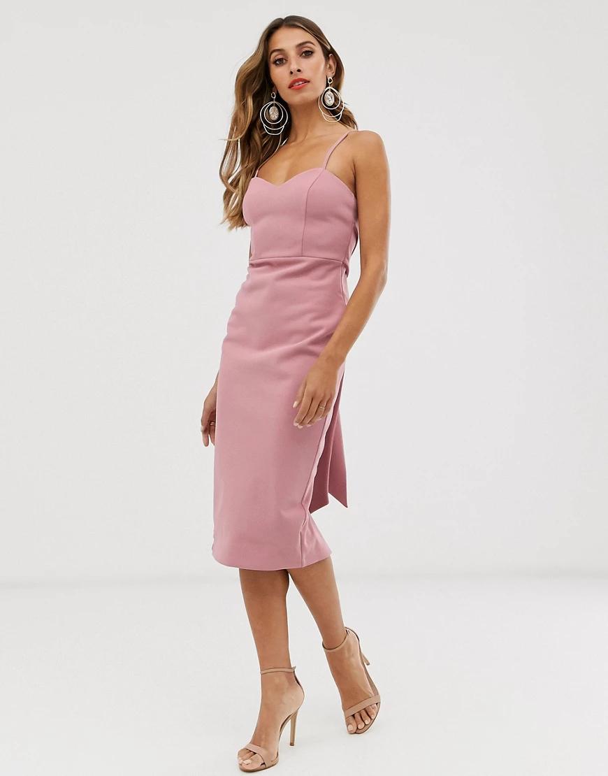 ASOS DESIGN   Платье миди на бретелях с завязкой сзади ASOS DESIGN-Мульти   Clouty