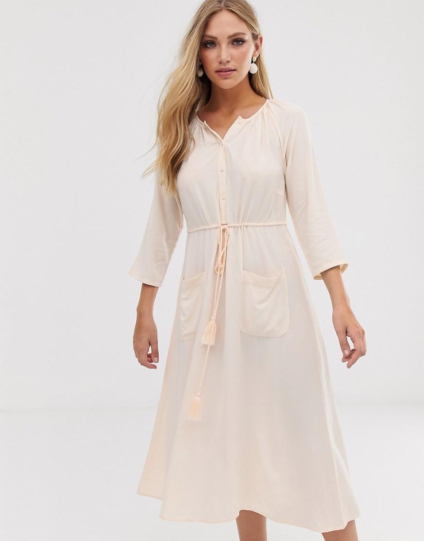 Y.A.S. | Платье миди на пуговицах Y.А.S-Белый | Clouty