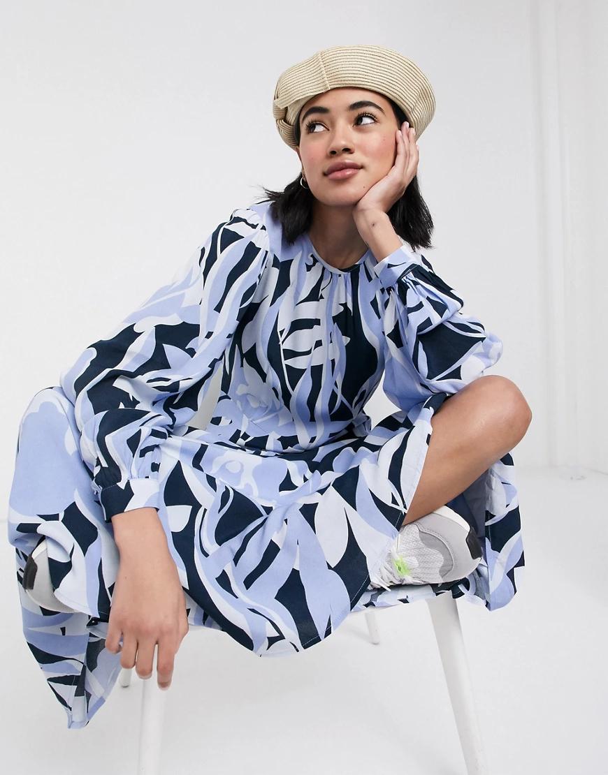 Selected | Платье миди с абстрактным принтом Selected Fеmmе-Мульти | Clouty
