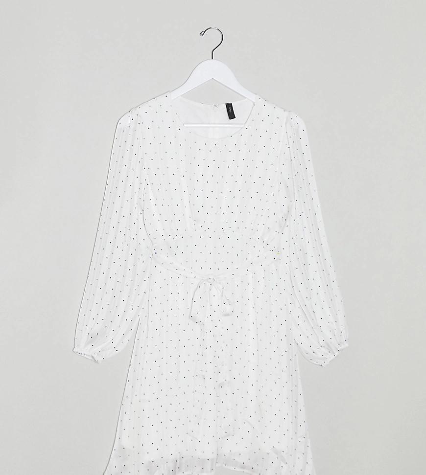 Y.A.S Petite | Платье миди с длинными рукавами и цветочным принтом Y.A.S Реtitе-Многоцветный | Clouty