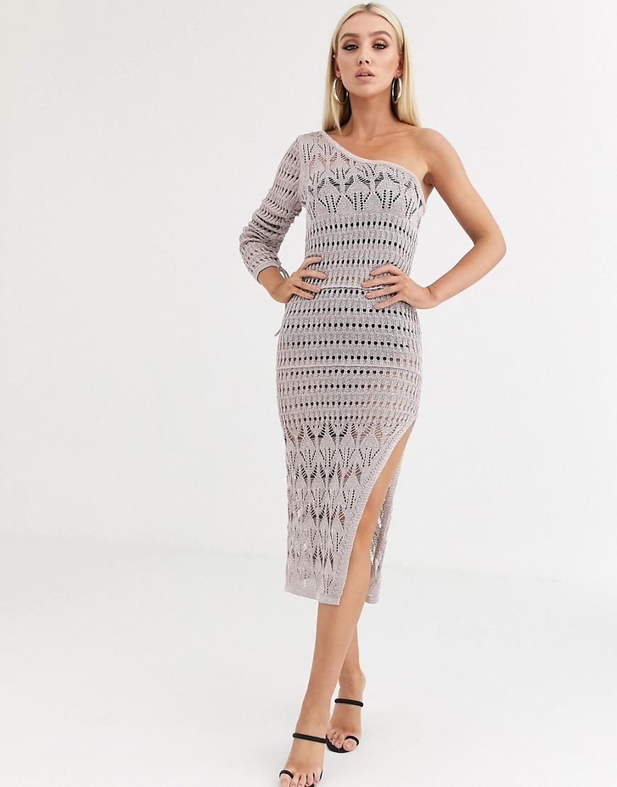 ASOS DESIGN   Платье миди с эффектом металлик ASOS DЕSIGN-Золотой   Clouty