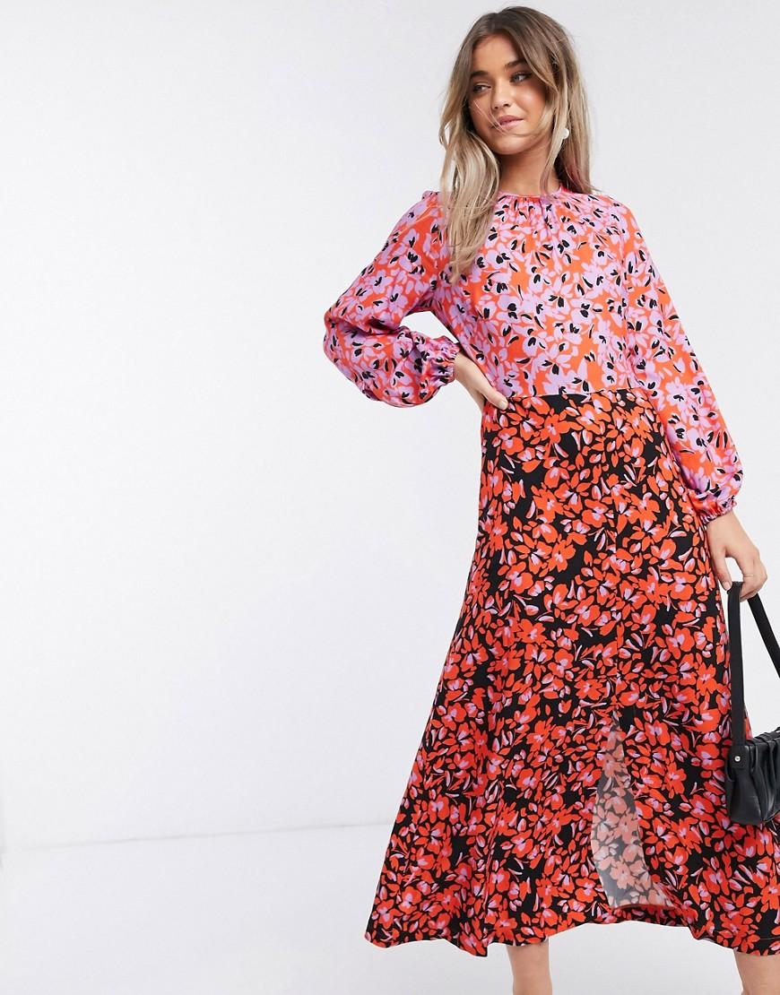 Closet London | Платье миди с лавандовым цветочным принтом Closet Lопdоп-Многоцветный | Clouty