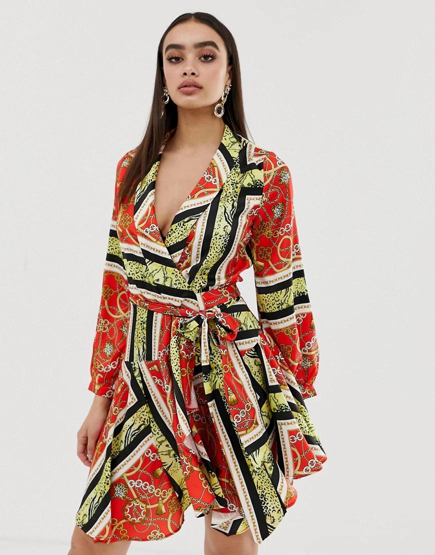 Club L London | Платье миди с принтом Club L-Мульти | Clouty