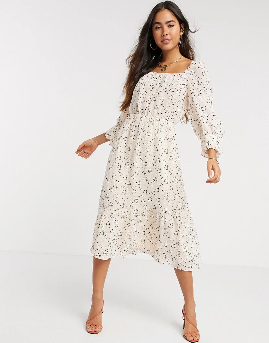 Y.A.S. | Платье миди с рукавами длиной три четверти Y.А.S-Мульти | Clouty