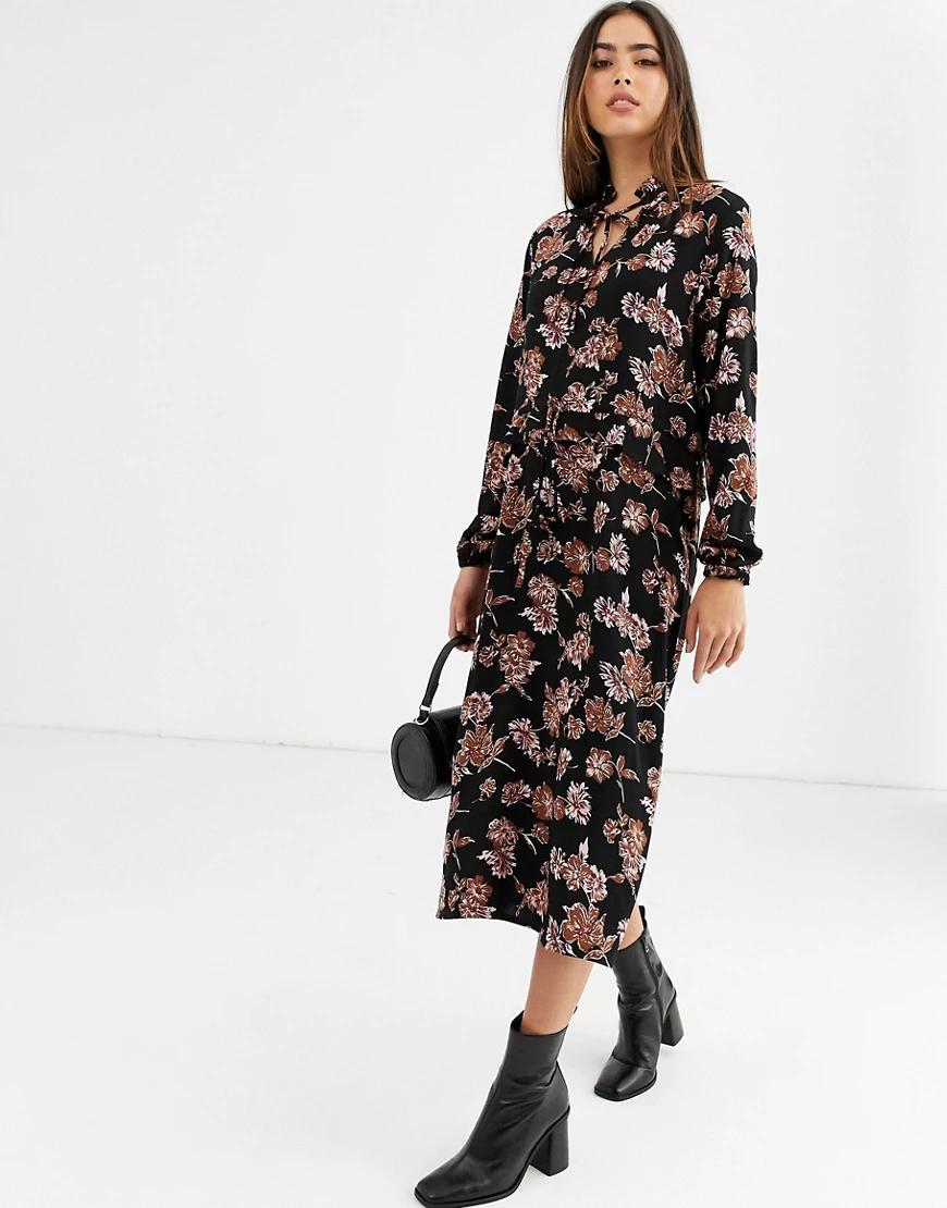 B.Young | Платье миди с цветочным принтом b.Young-Мульти | Clouty