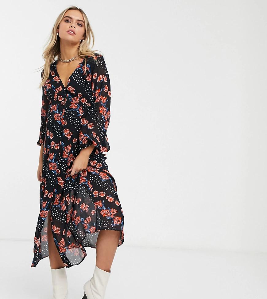 TOPSHOP | Платье миди с цветочным принтом Topshop Maternity-Myльтu | Clouty