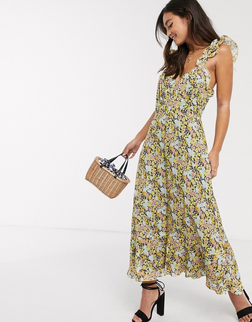 Talulah   Платье миди с цветочным принтом Таlиlаh-Многоцветный   Clouty