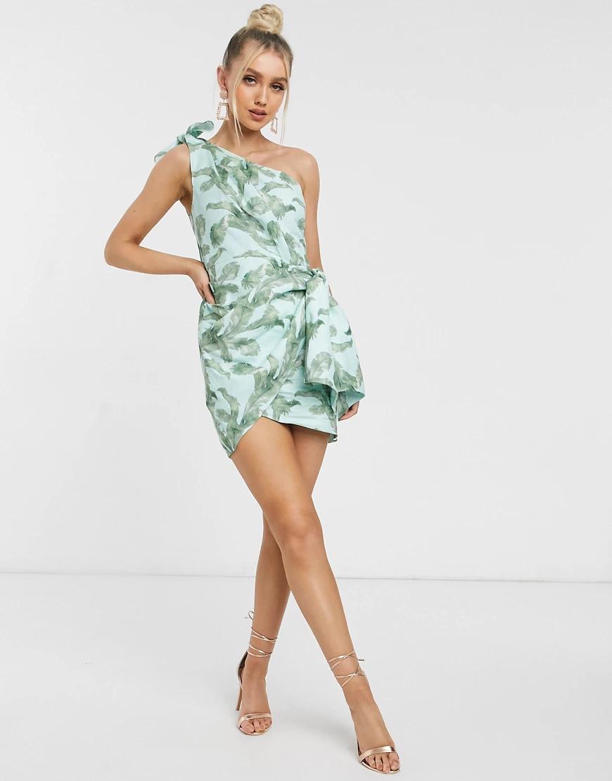 Significant Other | Платье мини на одно плечо с принтом Significant-Myльтu | Clouty