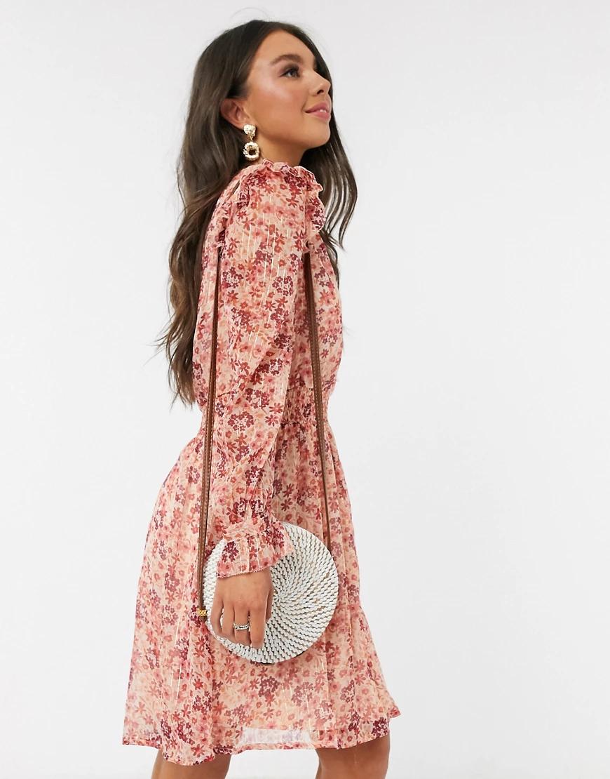 Pimkie   Платье мини с цветочным принтом и V-образным вырезом Рimкiе-Красный   Clouty