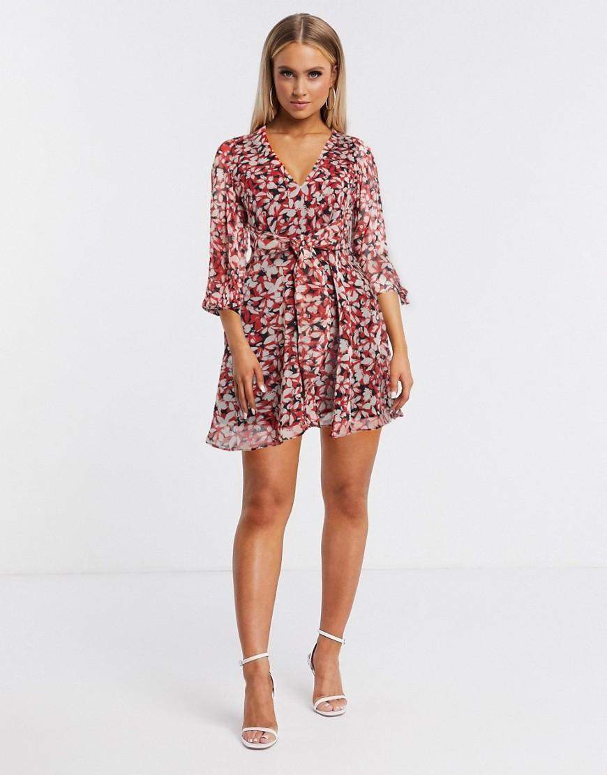 Talulah | Платье мини с цветочным принтом Talulah-Красный | Clouty
