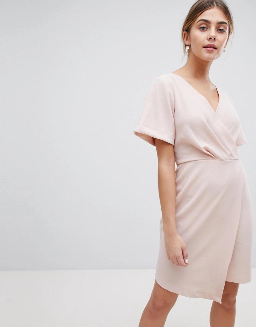 Closet London | Платье мини с запахом Closet Lопdоп-Розовый | Clouty