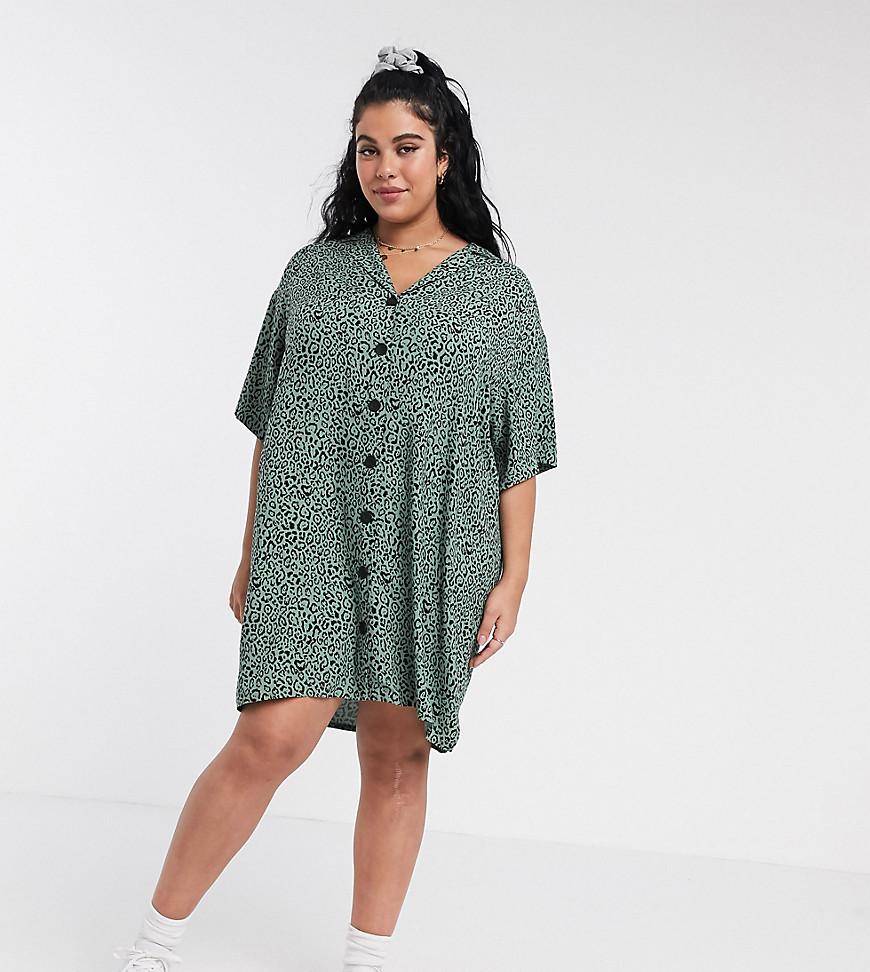 ASOS DESIGN   Платье-рубашка мини на пуговицах с леопардовым принтом ASOS DESIGN Сиrvе-Мульти   Clouty