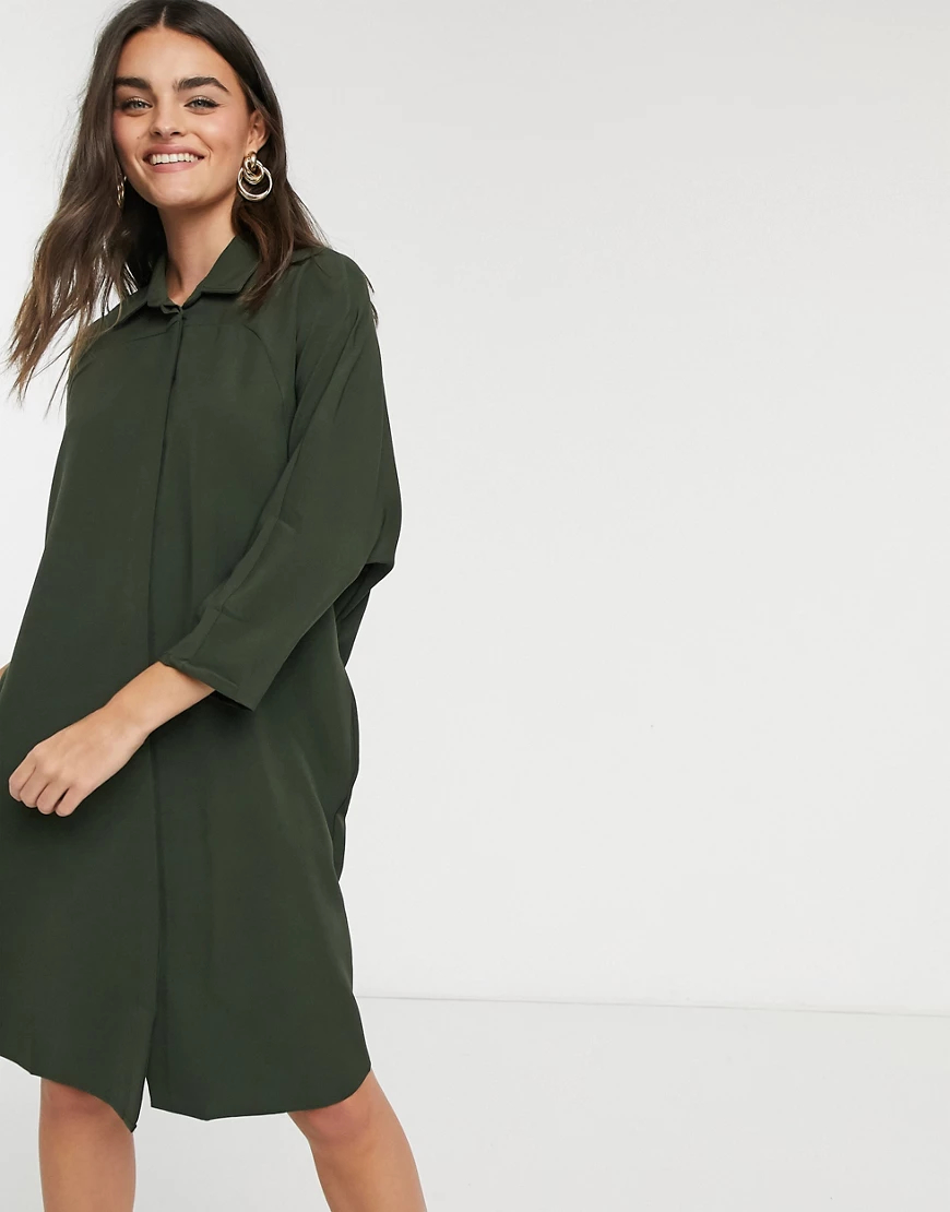 Liquorish | Платье-рубашка цвета хакиLiqиоrish-Многоцветный | Clouty