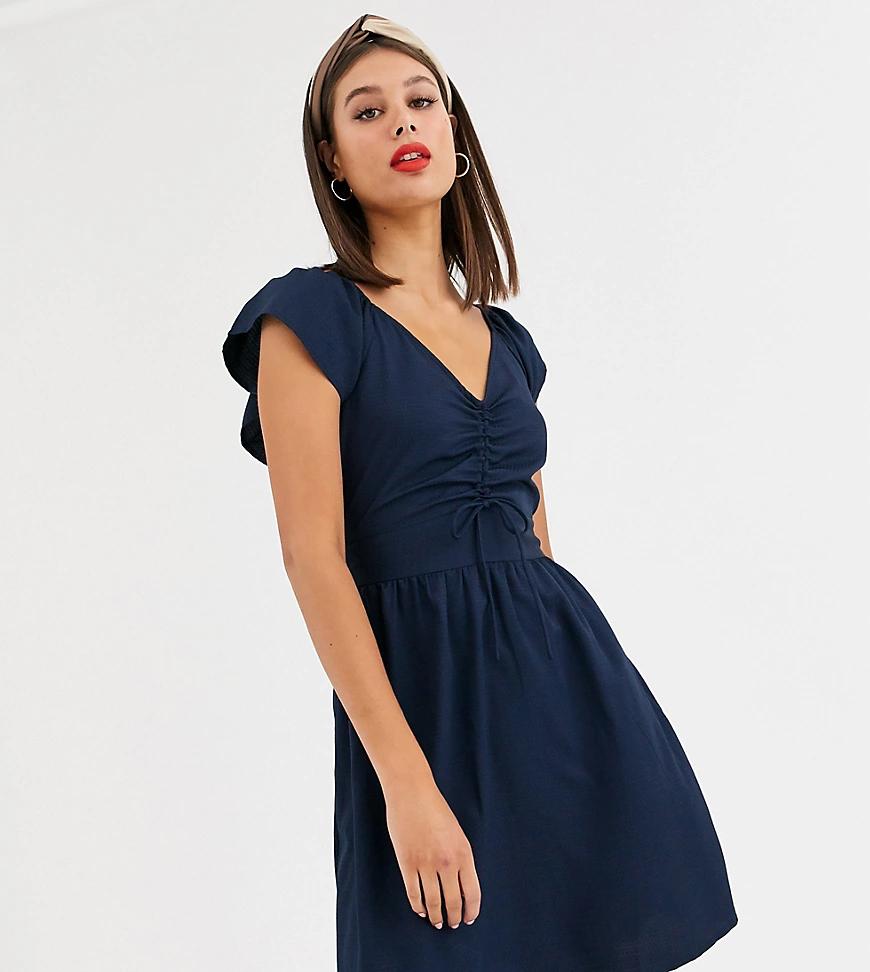 VERO MODA | Платье с присборенной отделкой спереди Vero Moda Таll-Темно-синий | Clouty