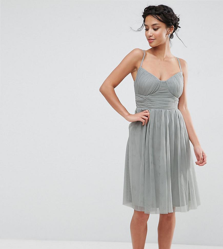 Little Mistress | Приталенное платье для выпускного из тюля Little Mistress Реtitе-Зеленый | Clouty