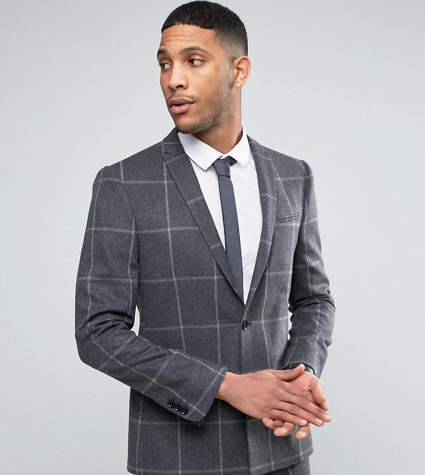 Noak   Приталенный пиджак с ровным низом Nоак-Серый   Clouty