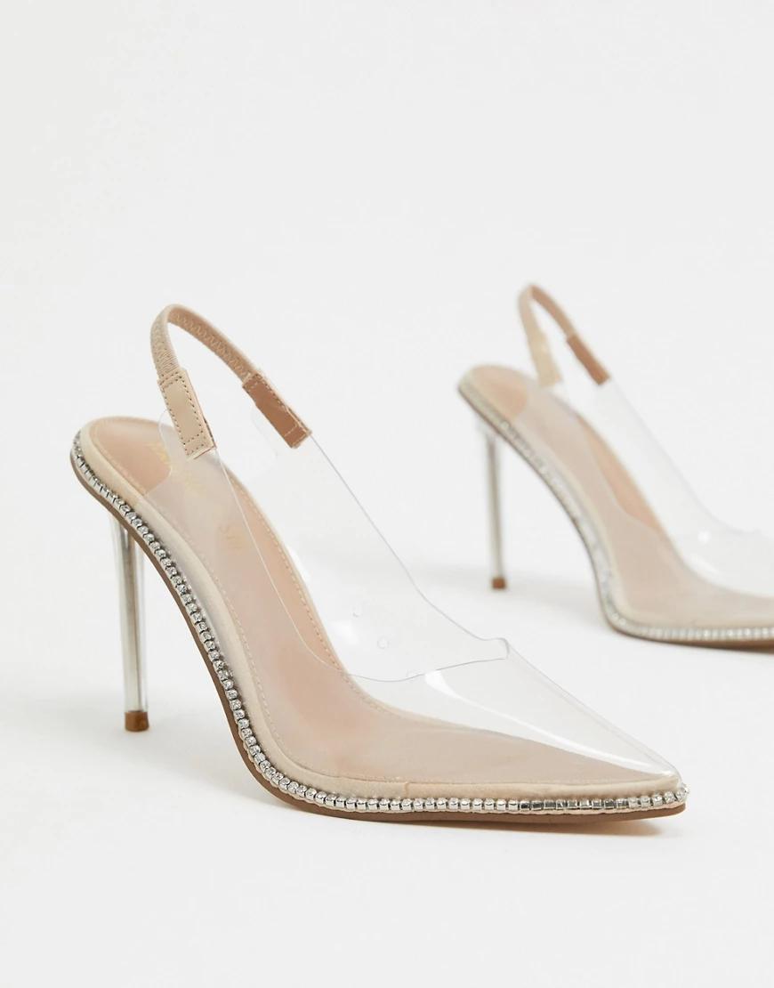 Steve Madden | Прозрачные туфли-лодочки на высоком каблуке Steve Маddеп-Очистить | Clouty