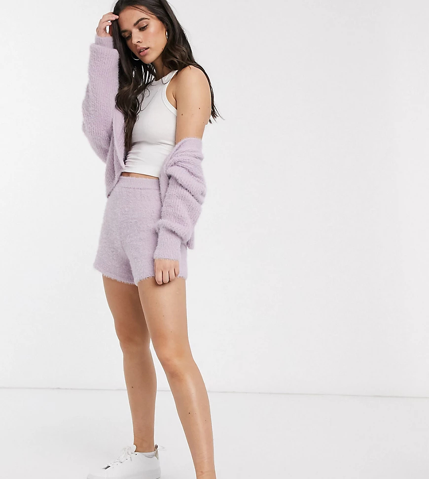 M Lounge | Пушистые шорты от комплекта M Lоипgе-Фиолетовый | Clouty